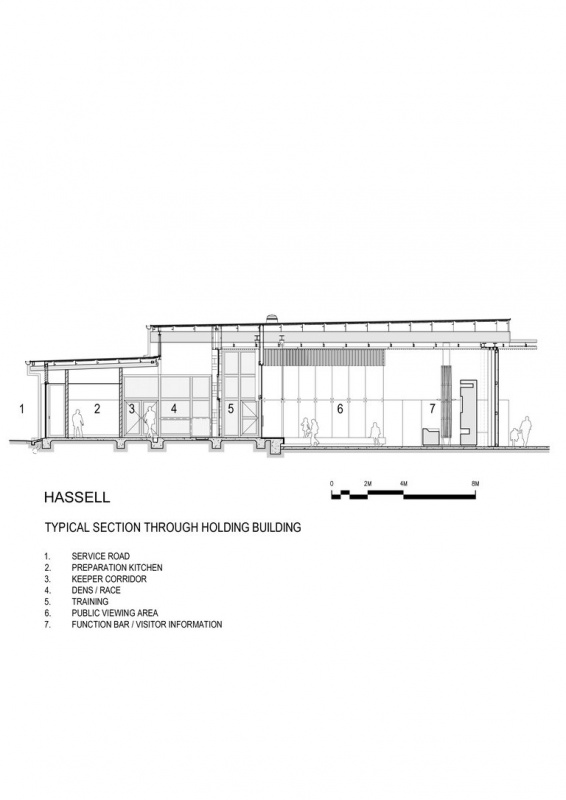 Holding building section