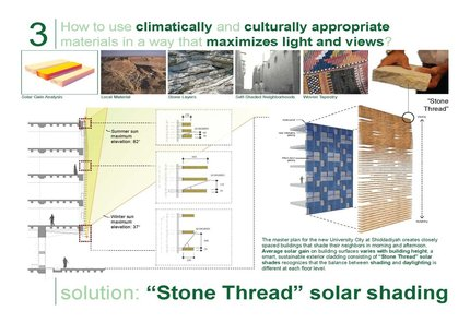 "Stone Thread"" solar shading"