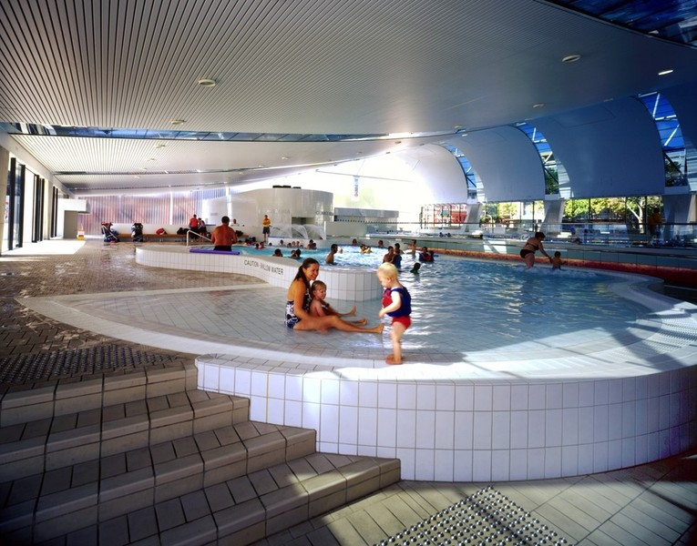 Recreational pool looking toward 50 m pool