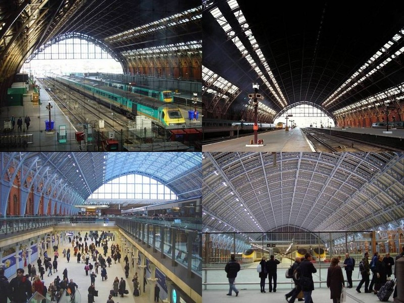 The trainshed roof, before and after