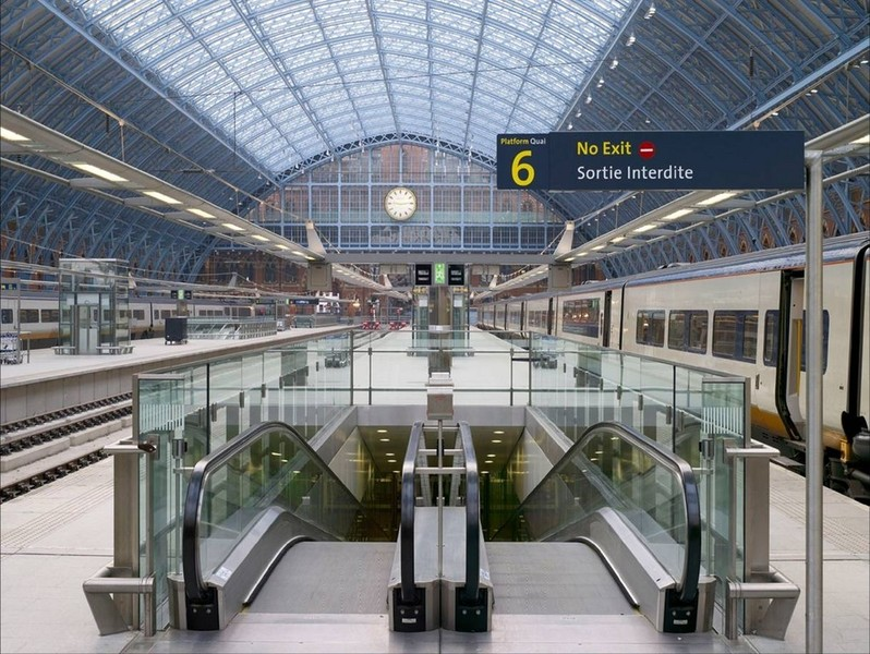 Completed Eurostar platforms