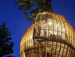The treehouse becomes 'lantern-like' at night