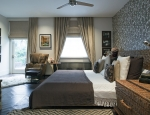Master bedroom, with rich vivid textures