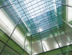 View of the glass atrium