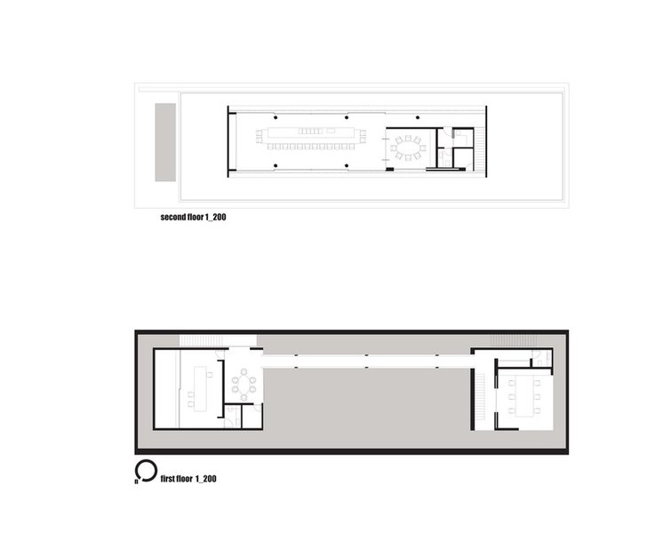 second floor plan / first floor plan