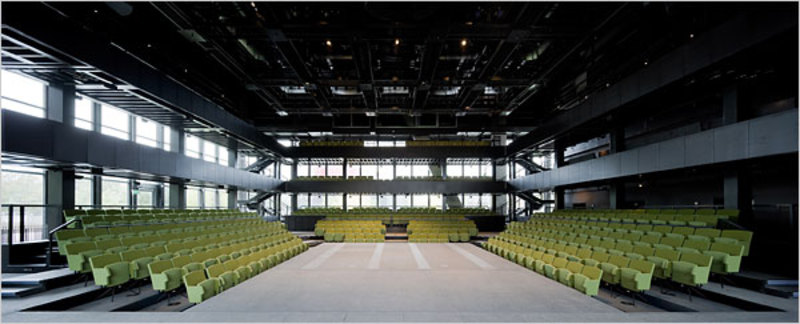 An interior view of the performance hall at the Dee and Charles Wyly Theater. Photo: Iwan Baan
