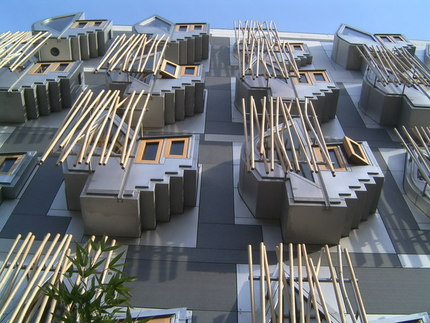 <b>Scottish Parliament Building</b> from Canongate:: OS grid NT2673 <b>...</b>