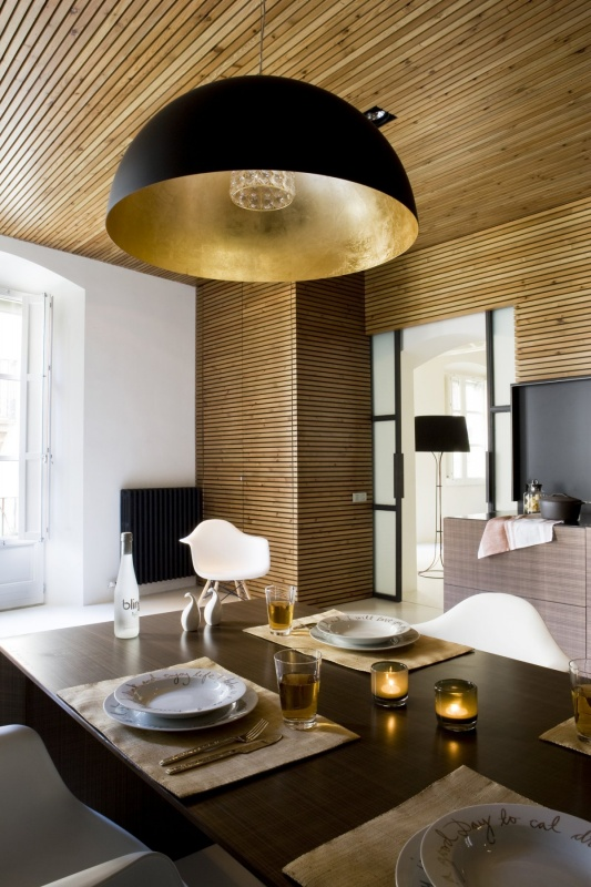 Dining Room at Gothic Quarter Apartment