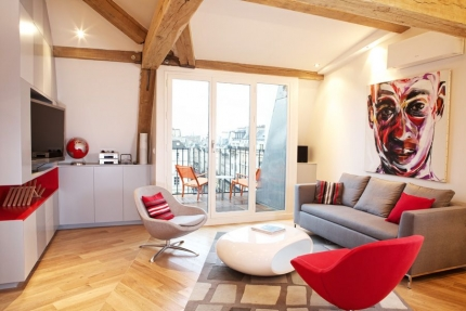 Living Room at  Le Loft Des Innocents