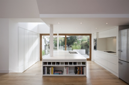 Minimalist Kitchen made by Jack Trench integrated within new extension