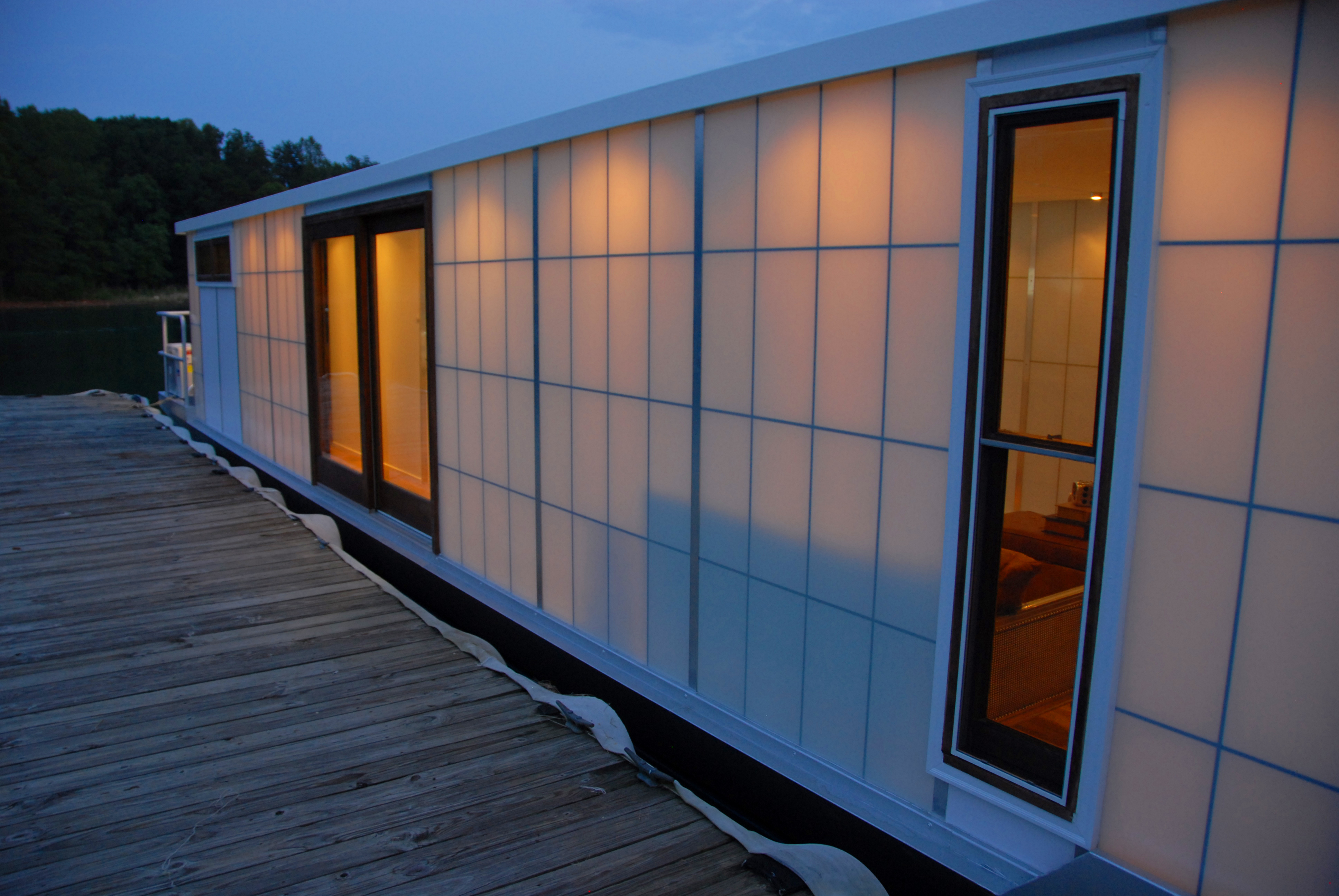The MetroShip Contemporary HouseBoat