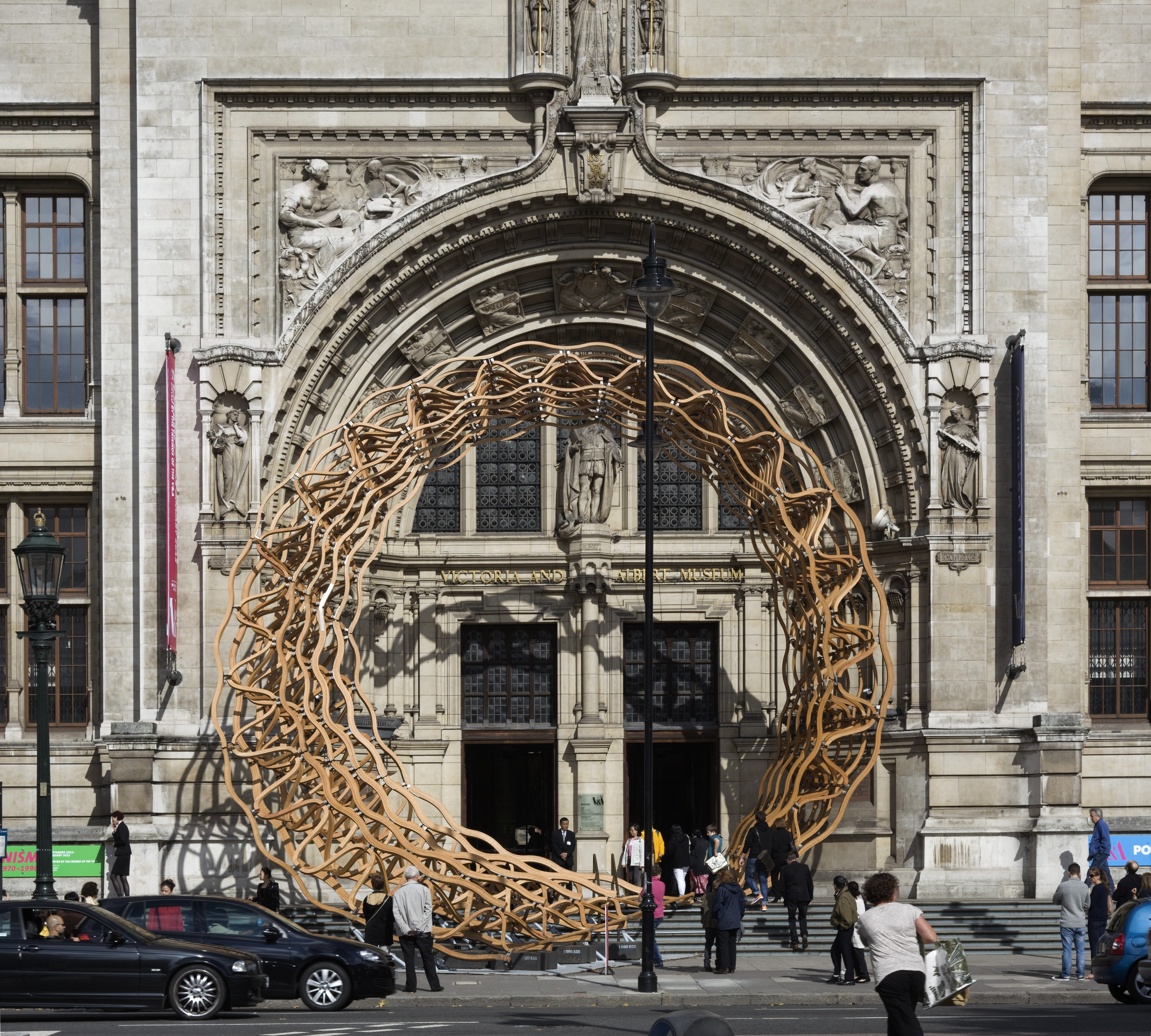 The arch brings design out onto the street, accessible to anyone passingthrough.