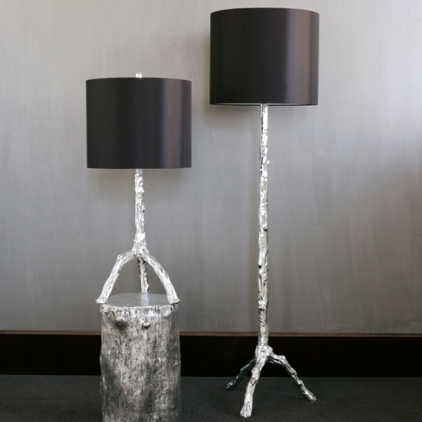 Twig Lamp Collection - Silver