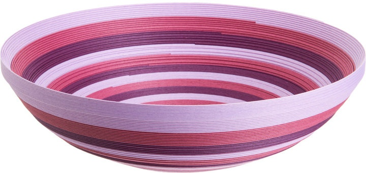 Small Stripe Paper Bowl in Purple