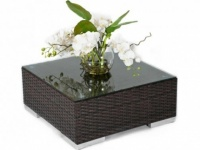 Brown Rattan Coffee Table