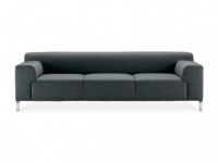 Zanotta Greg Three Seater Sofa, Dark Grey