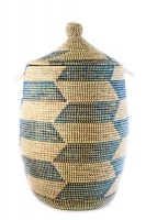 Large Senegalese Lidded Basket/Hamper