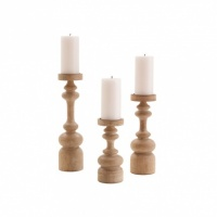 Arteriors Ainsworth Wood Pillar Holders