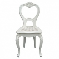 French Chair in White Wood