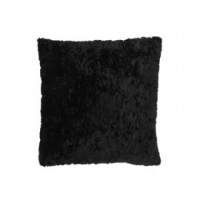 Luxe Faux Fur/Suede Black Cushion
