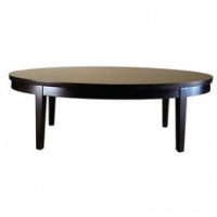 Mayline Living Room Furniture Oval Coffee Table - Espresso Eoto2448ew