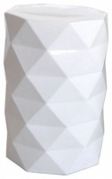 Faceted Ceramic Stool