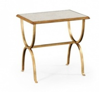 Jonathan Charles Gilded Side Table