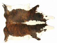 Brown and White Cow Skin Rug