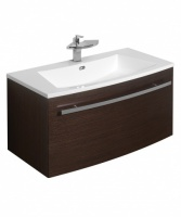 Bauhaus Stream 85 Unit And Basin Wenge