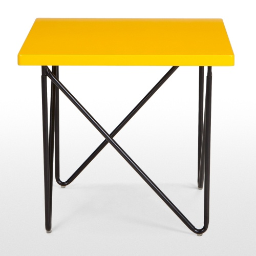 Eiffel Side Table in Yellow