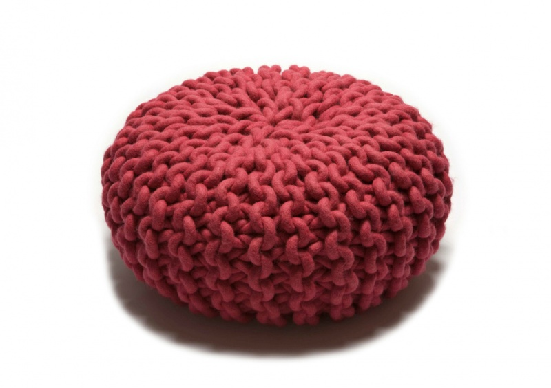 Pink Urchin Pouffe Medium