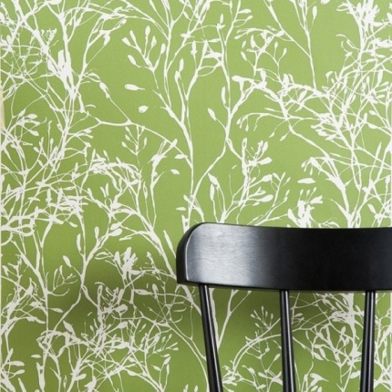 Wildflowers Wallpaper, Green