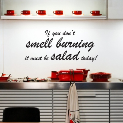Sweet kitchen wall stickers on clippings salad wall sticker kitchen