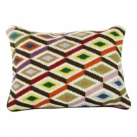 Bargello Multi Diamonds Cushion