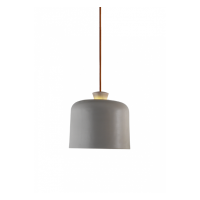 Fuse Big Pendant - Light Grey with Orange Wire