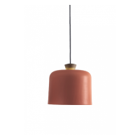 Fuse Big Pendant - Light Coral with Grey Wire