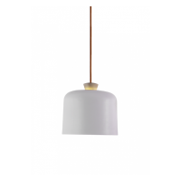 Fuse Big Pendant - Light White with Orange Wire