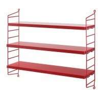 String Pocket Shelving, Red