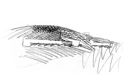 Petra sketch by Mario Botta