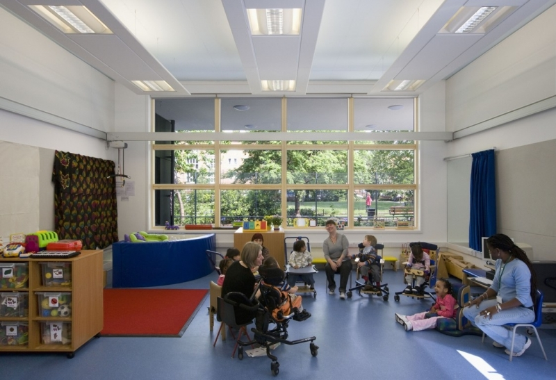 Richard Cloudesley classroom and park beyond