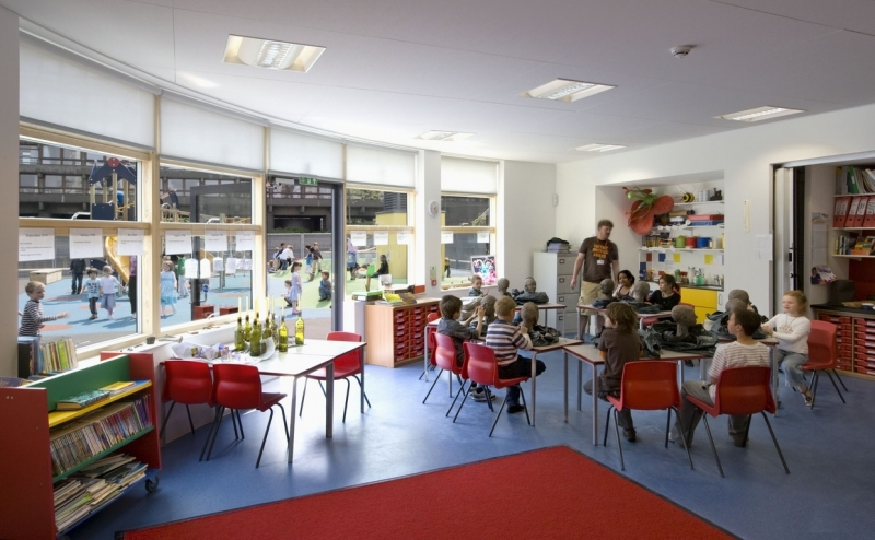 Prior Weston classroom and playspace beyond